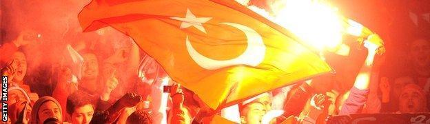 Turkey flags.