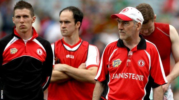 Mickey Harte after Tyrone's defeat by Mayo