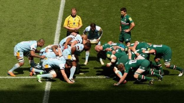 Leicester 39 s richard cockerill criticises new scrum laws bbc sport - English rugby union league tables ...