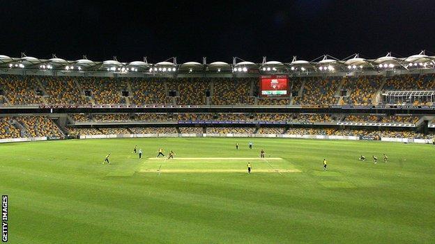 The Gabba in Brisbane, staging an floodlit game