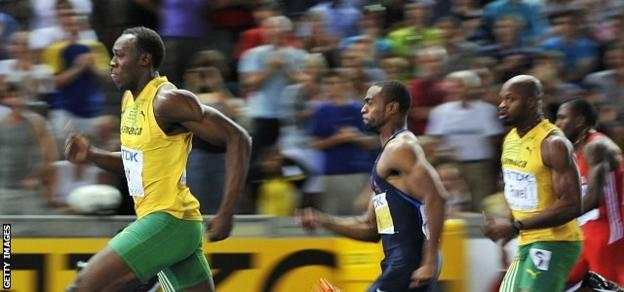 Usain Bolt, Tyson Gay and Asafa Powell