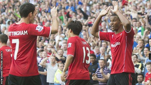 Cardiff City Peter Whittingham and Frazier Campbell