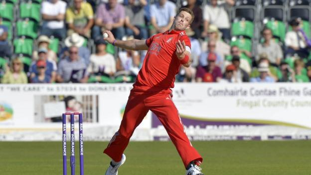 Fast bowler Boyd Rankin was in action against his former Ireland team-mates at Malahide