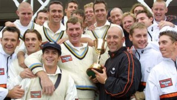 Yorkshire celebrate County Championship success in 2001