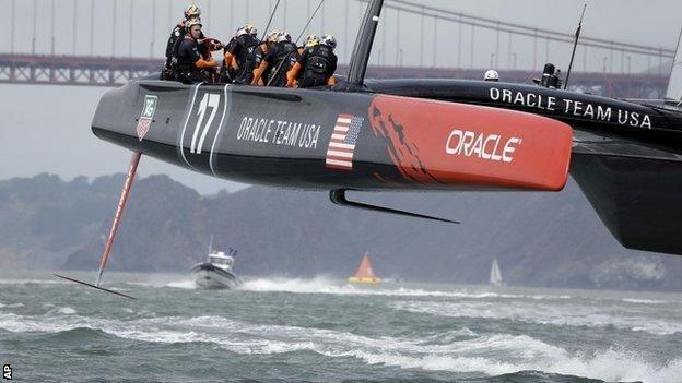 America's Oracle boat