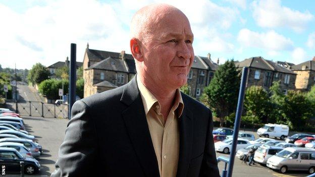 Dundee manager John Brown