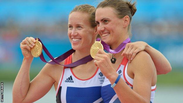 Helen Glover [l] and Heather Stanning