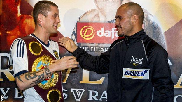 Ricky Burns (left) will take on Raymundo Beltran at Glasgow's SECC