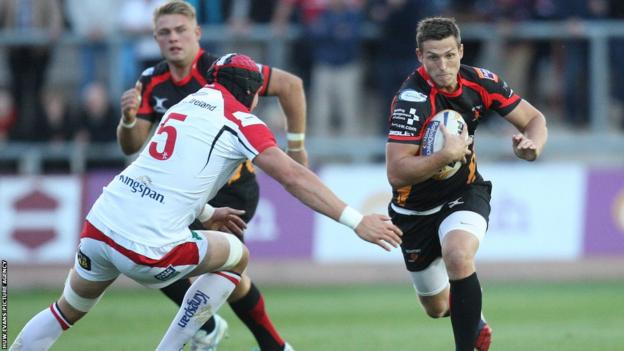 Jason Tovey, on his return to the Newport Gwent Dragons following a season with the Blues, takes on Ulsters' Dan Tuohy as the new Pro12 season kicks off.