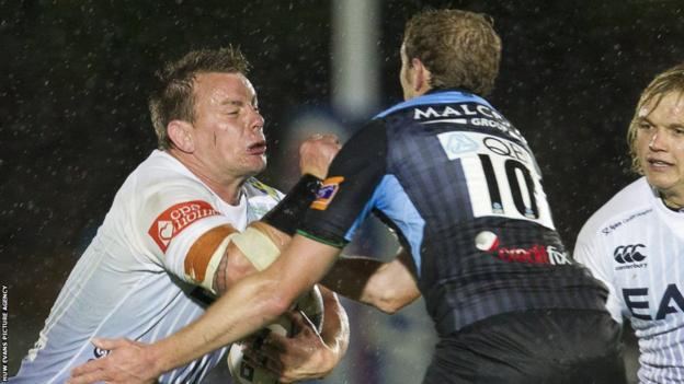Hooker Matthew Rees captained the Blues on his debut but the evening ended in a 15-22 defeat against Glasgow.