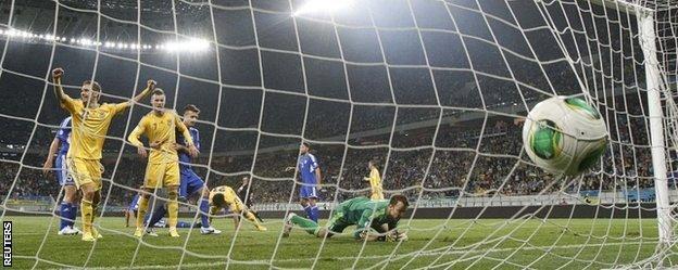 Ukraine scored nine times against San Marino