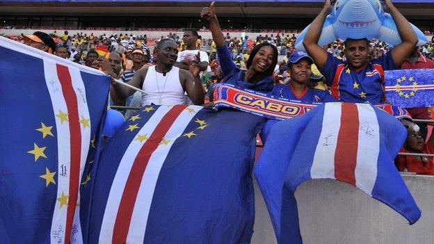 Cape Verde football fans