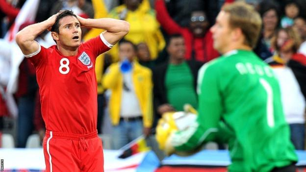 Lampard sees goal disallowed against Germany at 2010 World Cup