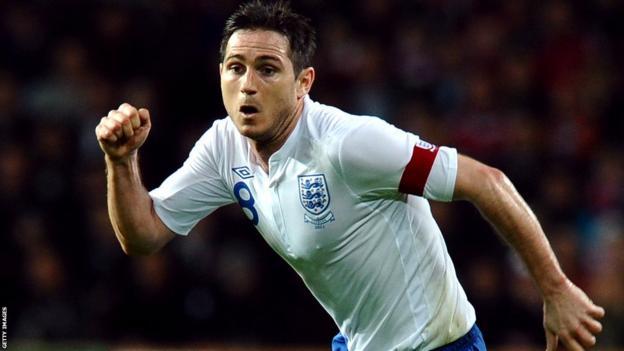 Lampard captain v Denmark 9 February 2011