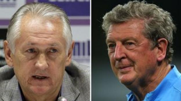 Mikhail Fomenko (left) and Roy Hodgson