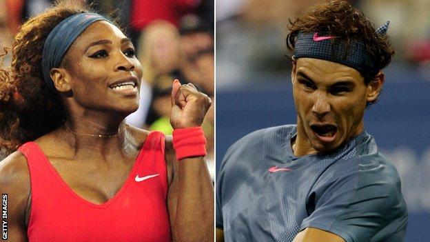 Serena Williams and Rafael Nadal