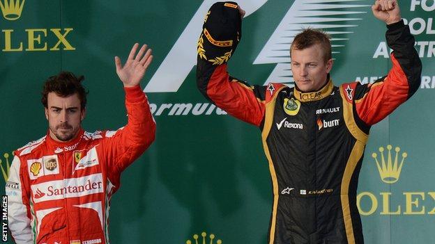 Fernando Alonso & Kimi Raikkonen