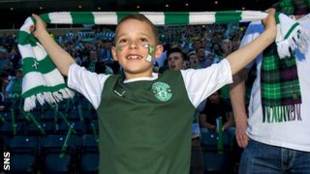 Young Hibernian supporter