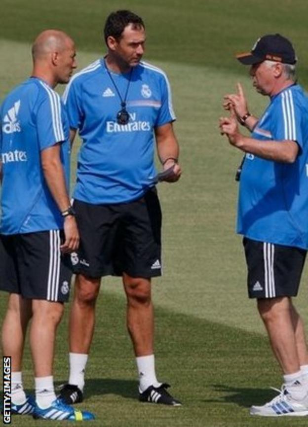 Zinedine Zidane, Paul Clement and Carlo Ancelotti