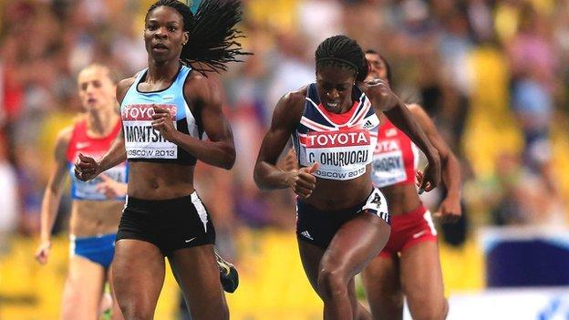 Amantle Montsho (letf) and Christine Ohuruogu