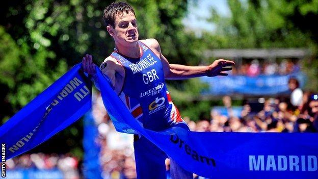 Jonny Brownlee wins in Madrid 2013