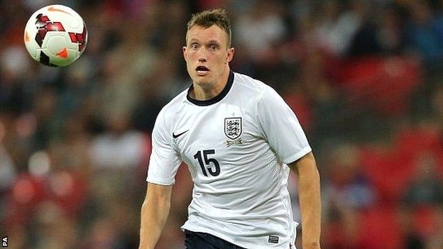 Phil Jones on England duty