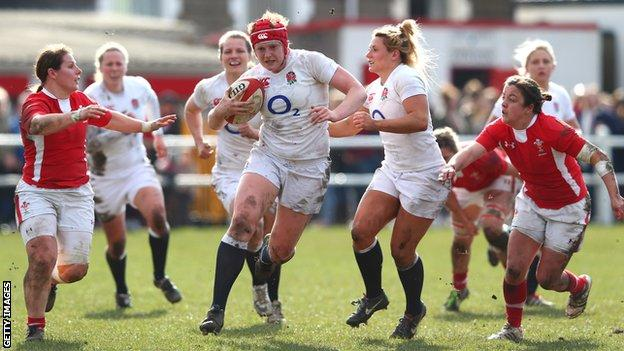 England Women in Six Nations action