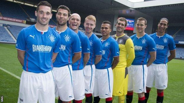 Rangers' eight signings line up at Ibrox