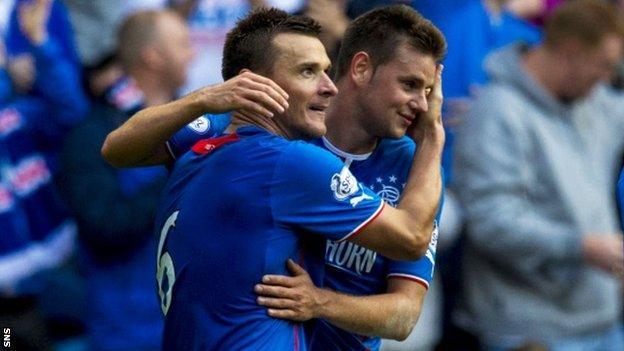 Lee McCulloch (left) celebrates