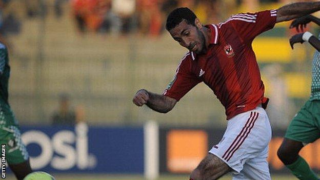 Al-Ahly player Mohamed Aboutrika