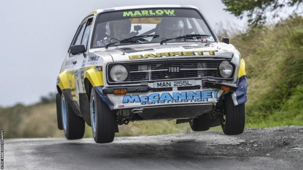 Ryan Barrett and Isle of Man co-driver Paul McCann