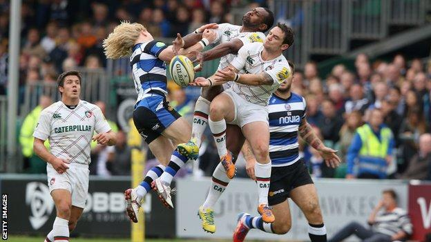 Aviva Premiership match between Bath and Leicester Tigers at the Recreation Ground