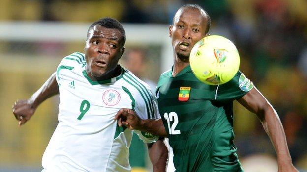 Nigeria played Ethiopia in January