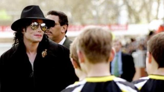 Michael Jackson visiting Craven Cottage