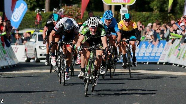 Sam Bennett wins stage five of the Tour of Britain