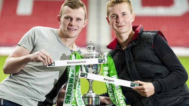 Nicky Devlin and Robbie Crawford
