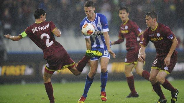 Nick Powell in action for Wigan