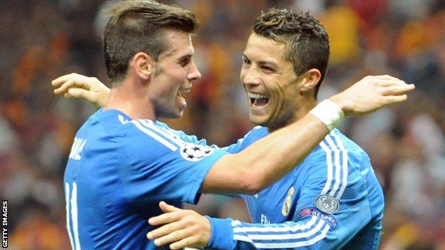 Real Madrid pair Gareth Bale and Cristiano Ronaldo