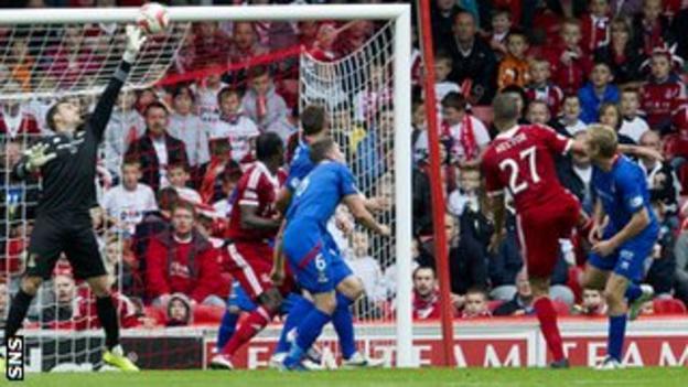 Inverness goalkeeper Dean Brill brilliantly denied Aberdeen twice in the first-half.