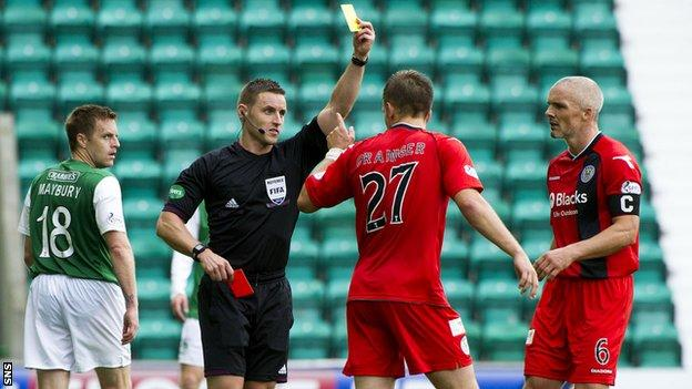 St Mirren lost 2-0 at Easter Road