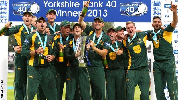 Nottinghamshire lift YB40 Trophy