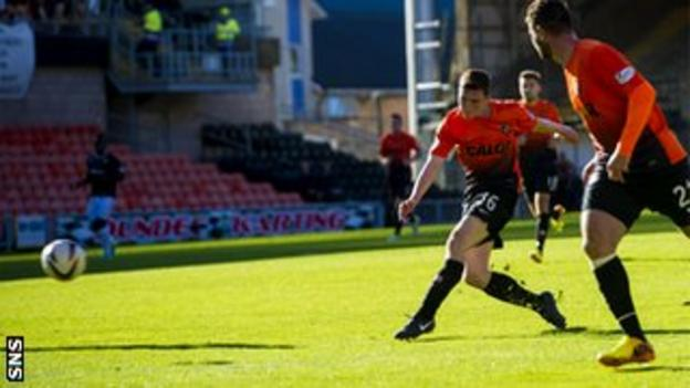 Andrew Robertson's first Dundee United goal had put them in front after 57 minutes