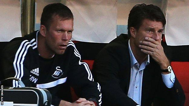 Morten Wieghorst and Michael Laudrup
