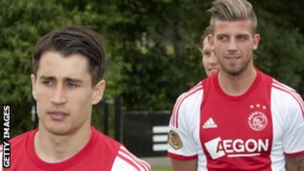 Bojan Krkic and Toby Alderweireld