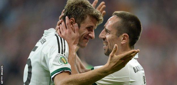 Thomas Muller and Franck Ribery
