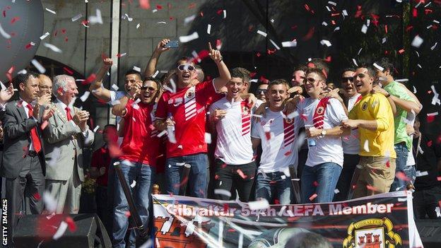 Gibraltar players