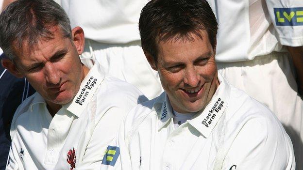 Andy Caddick and Marcus Trescothick