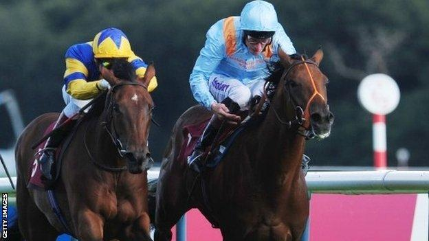 Chriselliam (left) on a previous run at Haydock