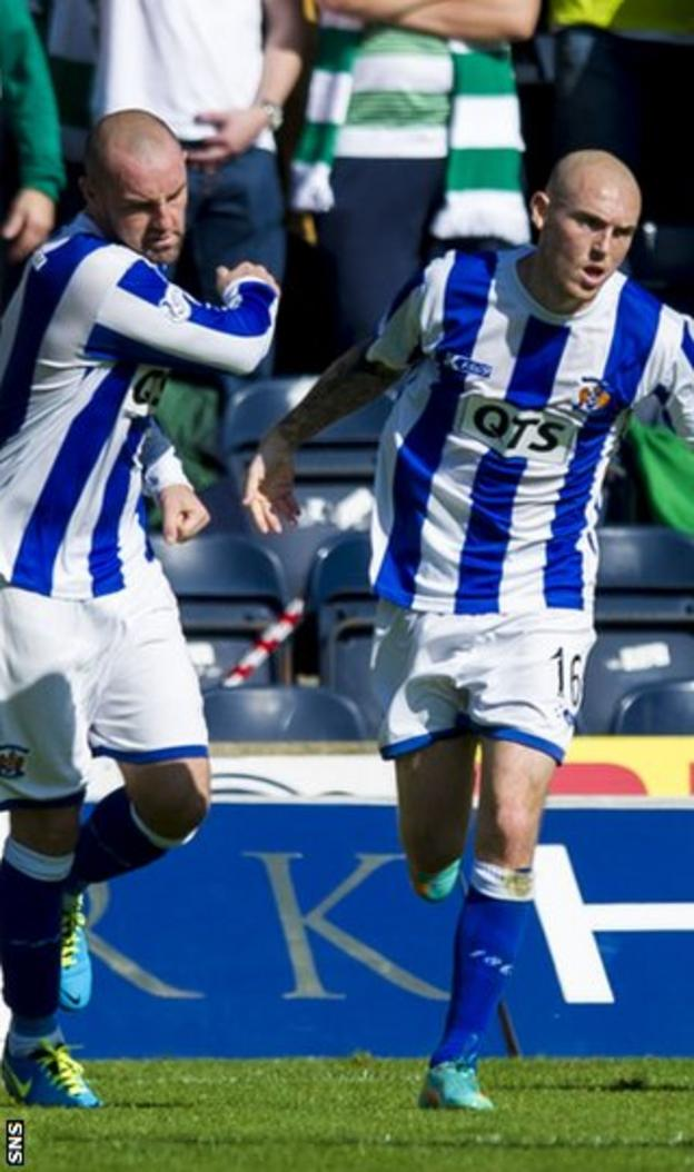 Sean Clohessy pulled a second goal back for Kilmarnock at Rugby Park