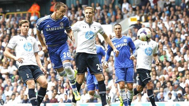 John Terry equalises for Chelsea at Tottenham